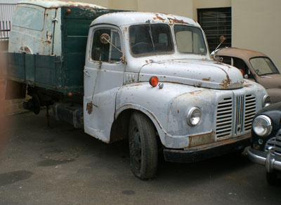 A collected Morris Commercial Truck ready to be refurbished and reconditioned for industry transportation. It will look fantastic once the Northmead engineering team are done with it.
