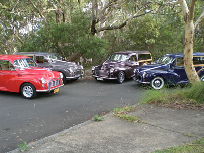 A gathering of some beautiful looking Morris Minor vehicles. The cars were serviced and arranged by Allan's Motor Engineering located in Northmead, Sydney NSW.